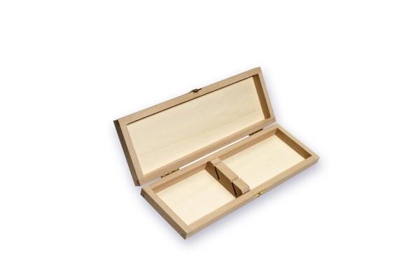 Holzkassette für 2 Messer, helles Holz