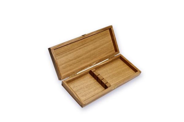 Boîte de collection en chêne pour 4 couteaux