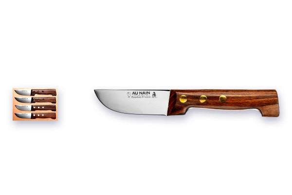 """""""PETIT-BOUCHER"""" Steakmesserset Atelier AU NAIN® série CAMPAGNE - Palisandergrif"""