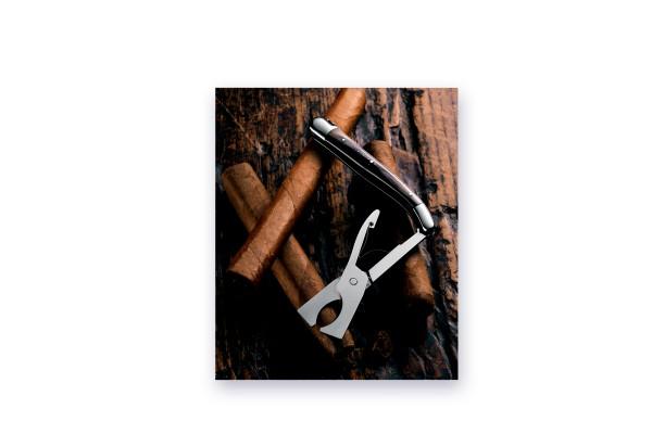 LAGUIOLE COUP-COUP Forge de Laguiole Zigarrenschneider schwarze Büffelhornspitze