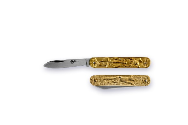 "SUJET NAVETTE ""Parforce & Fuchs"" brass"